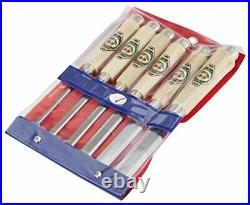 1112000 Firmer Chisel Set with Horn Beam Handle, Beige/Silver, 6tlg