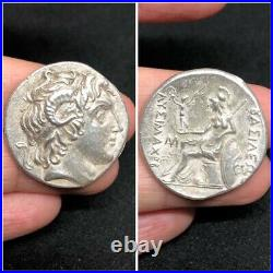 (14.41)Alexander the Great with horn of Ammon Silver Coin c. 305281 BCE Rare