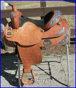 15 Light oil Big Horn Silver Show Saddle with Matching Breast Collar # 1850