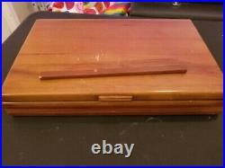 1920s Set of 8 Antique Flatware Set + Elk Horn Knife Sharpener with Silver Mount
