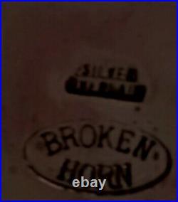 1989 PCQHA Rodeo Award Silver Overlay With Garnet. BROKEN HORN Belt Buckle +belt