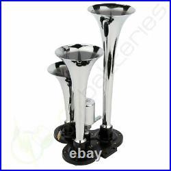 3 Trumpet Train Air Horn Kit 150dB With 12V Air Compressor Air System 150 PSI