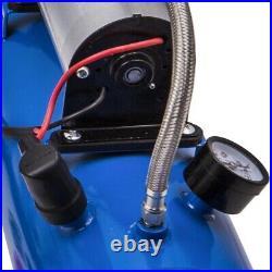 4 Trumpet Air Horn 12V Compressor Kit Blue Tank Gauge 3M Air Hose 150db