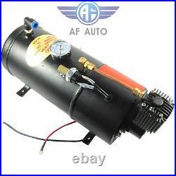 4 Trumpet Chrome Air Horn With 150 PSI 3 Liter 12V Air Compressor