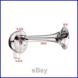 5X12V 126DB Car Universal Super Loud Air Horn Chrome Tracheal with Bracket Q2T0