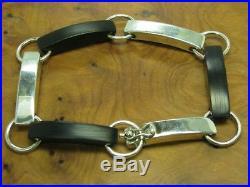 925 Sterling Silver Bracelet with Horn Decorations/31,5g/20,4cm