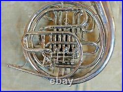 Absolutely Beautiful F Schmidt F/Bb Double French Horn Silver Nickle with Case