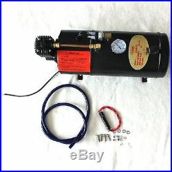 Air Horn 150 Psi Triple Trumpet Chrome With 3 Liter 12v Air Compressor