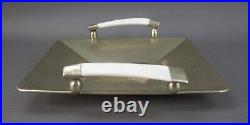 Airedelsur Argentina Alpaca Silver Tray With Horn Handles 16 x 14