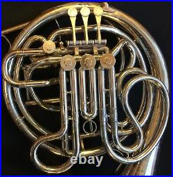 All-Original Conn 8D Double French Horn Nickel-Silver With Case & Mouthpiece