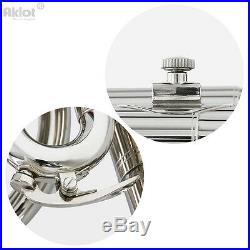 Alto Horn Eb Nickel Silver Plated Mouthpiece Stainless Steel Piston with Gig Bag