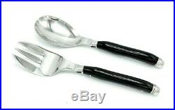 Anilao and Co. Salad Serving Set with Buffalo Horn Handles (hangs on bowl)