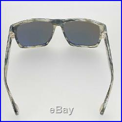 Ann Demeulemeester Sunglasses Angular Brown Horn 925 Silver with Green Lenses AD