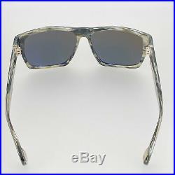Ann Demeulemeester Sunglasses Angular Brown Horn 925 Silver with Green Lenses Ca