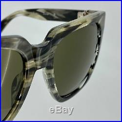 Ann Demeulemeester Sunglasses CAT 3 Oversized Brown Horn with Green Lenses 925 S