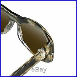Ann Demeulemeester Sunglasses Cat Eye Horn 925 Silver with Green Lenses Category