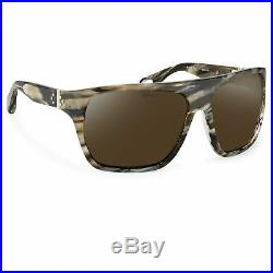 Ann Demeulemeester Sunglasses Oversized Brown Horn 925 Silver with Green Lenses