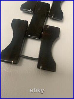 Antikes um 1920er Jahre Hornarmband mit Silber Inlay -Bracelet Horn with silver