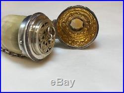 Antique Georgian Silver & horn snuff box with large citrine, c 1820 Scottish