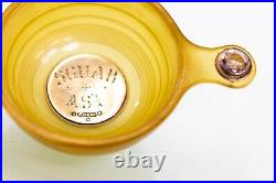 Antique Horn & Solid Silver Scottish Quaich Bowl Porringer With Amethyst Mounts