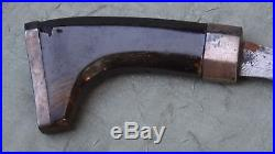 Antique Philippiines Talibonsheath Knife With Horn Handle &silver Mounts