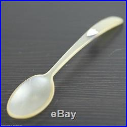 Antique Scottish horn spoon with solid silver shield Christening Great rare gift