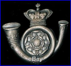 Antique Sterling Silver Or Plated Royal English Crown With Horn Brooch / Medal