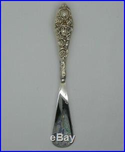 Art Nouveau Sterling Silver Shoe Horn with Repousse Design