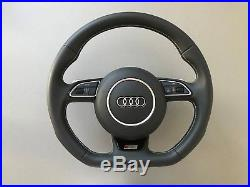 Audi SQ5/RS5/S5/A5 Fully Smooth Steering Wheel with Silver Shifting Paddles 709Z