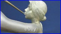 Aurora Goddess of the Dawn With Renewing Horn Statue Sculpture Silver Bronze