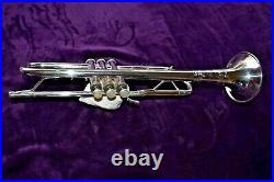 Bach TR200 ML SILVER Trumpet GREAT LOOKING HORN With Hard Case