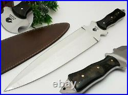Best Handmade Rare D2 Tool Camping Hunting Knife With Bull Horn Handle