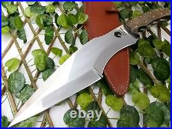 Best Handmade Rare D2 Tool Steel Hunting Fixed Blade Knife With Ram Horn Handle