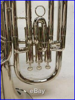Bestler 3 Valve Baritone Horn / Euphonium with Mouthpiece & Case with Key