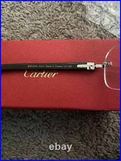 Black Cartier buffalo horn Buffs With Iridescent Tint