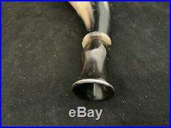 Blowing Horn, With Sterling Silver inlay Mouth Piece