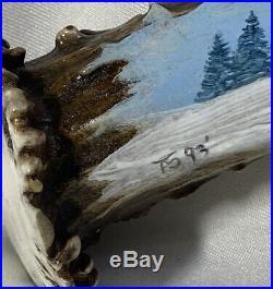 Bob Schopp (B. C. S.) Custom Trailing Point Knife with Tammy Strum Horn Handle