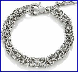 Bracelet Giovanni Raspini Jersey Byzantine Medium 9711 Silver 925 °°° With Horn