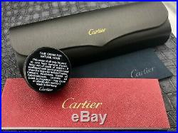 Brand New Cartier White Buffalo Horn Glasses with Silver trim