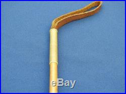 British Regimental Army Riding Crop Baton With Horn Handle And Silver Mounts
