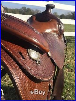 Broken Horn 17 in Custom Western Saddle beautiful silver with full tooling