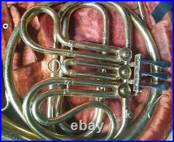 Buescher Elkhorn French Horn with case/MP, USA, Acceptable condition