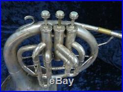 CF Boston Stencil Horn Silver F Mellophone Ser#132166 with Eb & D Attachments