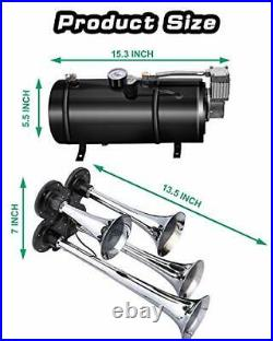 Carfka Air Horn for Truck Boats Car 150DB Super Loud Train Horns Kit with 120