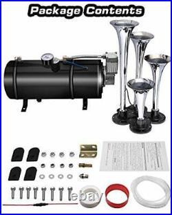 Carfka Air Horn for Truck Boats Car, 150DB Super Loud Train Horns Kit with 120