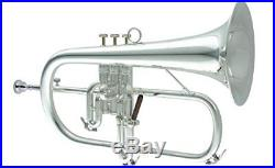 Carol Brass Flugel Horn N 6200 SP Yellow Silver plated finish with case