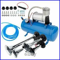 Cciyu 150db 12V Air Horn 4 Trumpet Air Horn Kit with 120 PSI Air Compressor 1