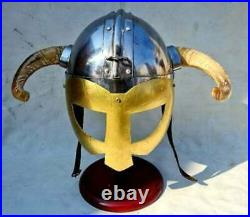 Collectible Medieval Viking Fantasy Helmet With Horn Medieval Costume Gift