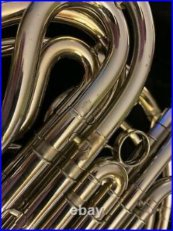 Conn 8D professional double wrap Nickel Silver French horn with case very nice