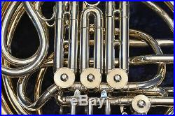 Conn 8DRS (8D with Rose-Brass Screw-Bell) Double French Horn withCase, Mouthpiece